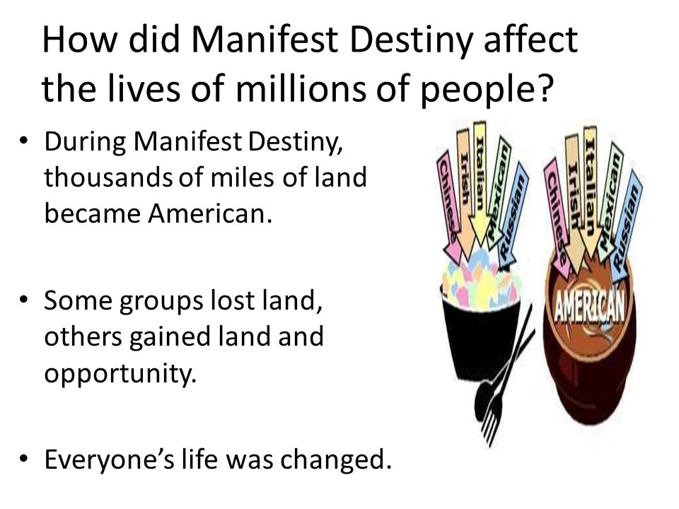 how did manifest destiny manifest itself On manifest destiny itself, two older books, albert k weinberg, manifest destiny (1958) and frederick merk, manifest destiny and mission in america (1963) remain useful but see also sam haynes and christopher morris, eds manifest destiny and empire (1977.