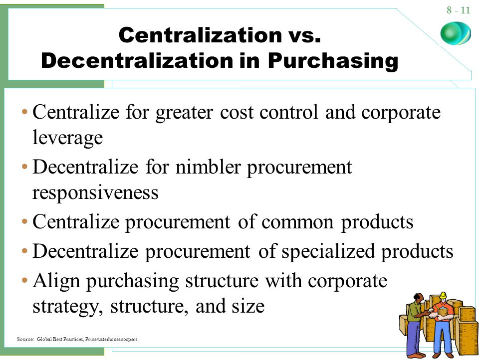 advantages and disadvantages of centralized and decentralized purchasing pdf