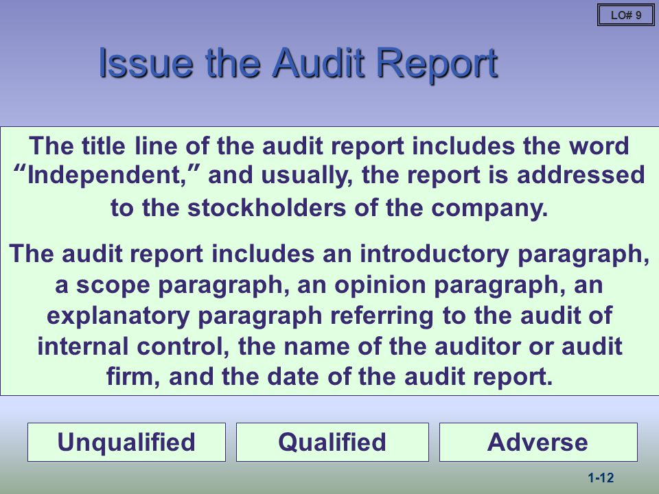 auditing and financial report The auditor general: conducts financial audits of the accounts and records of state agencies state reviews all audit reports of local governmental entities.