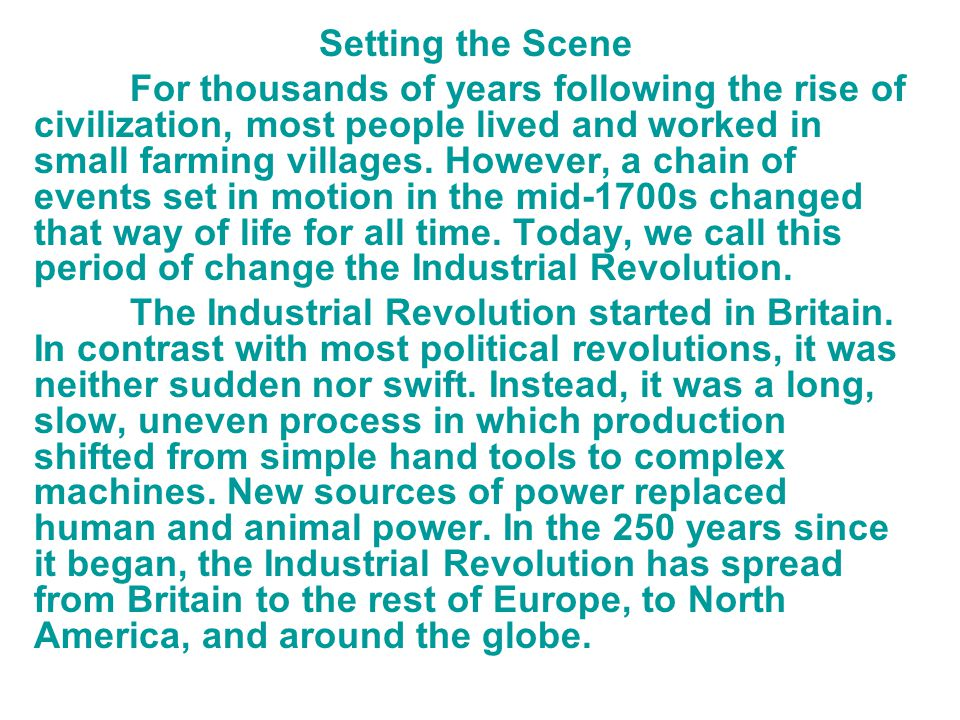 an examination of the industrial revolution in north america since 1750 There no unity as there was in north america after their revolution persian chart 1750-1900 latin america by the industrial revolution began in.