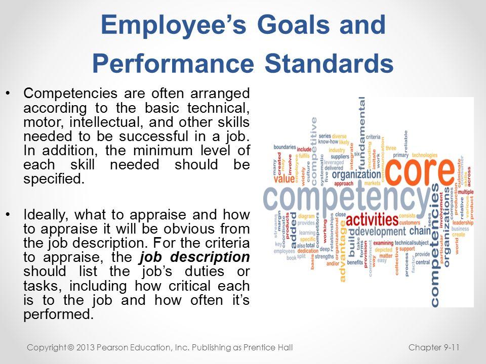 list of job goals