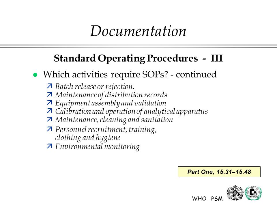 Documentation Part 2 Basic Principles Of Gmp