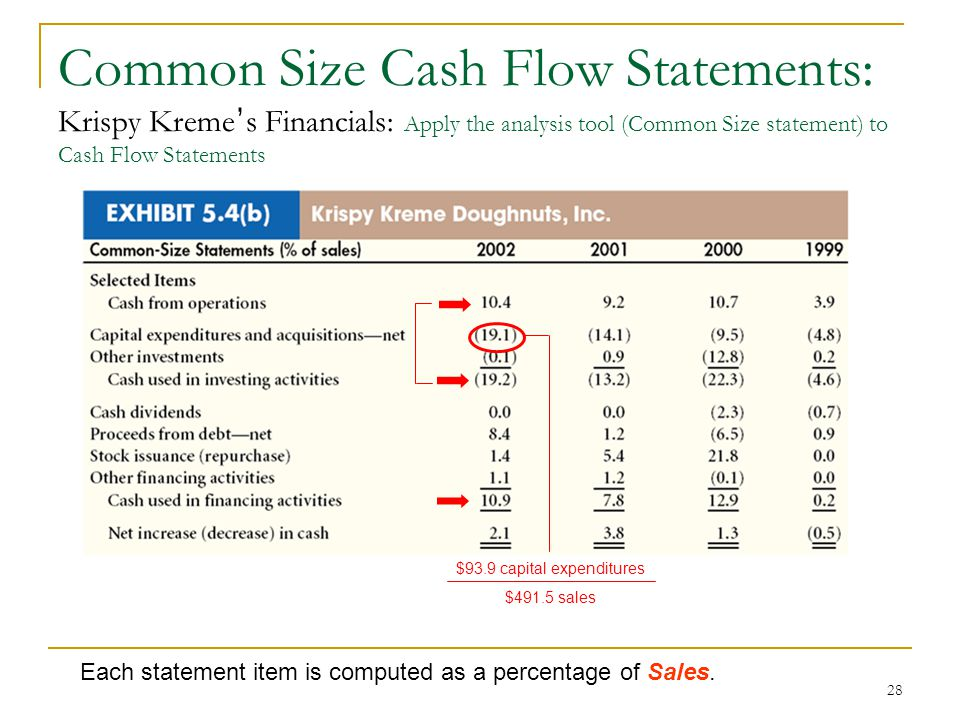 financial statement and cash flow analysis