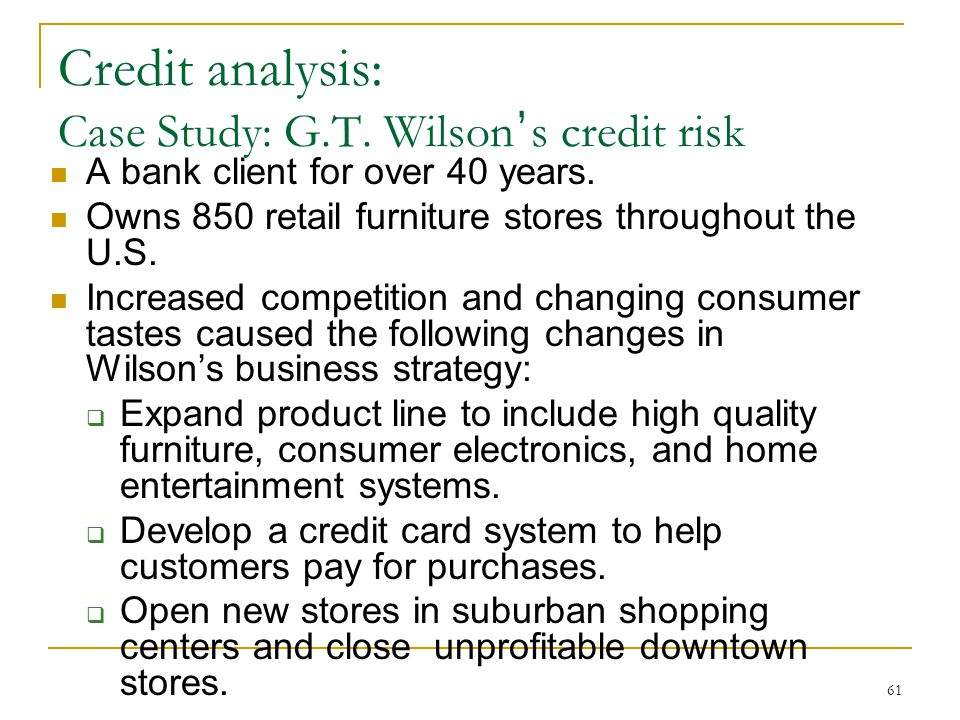 Furniture bank case study analysis