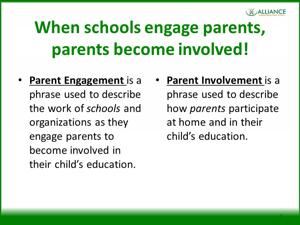 When schools engage parents, parents become involved!