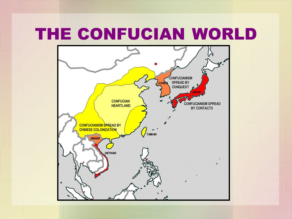 the origin and spread of confucianism Confucianism reconstructed: the violence of history and the making of   democratic constitutionalism began to be gradually challenged also.