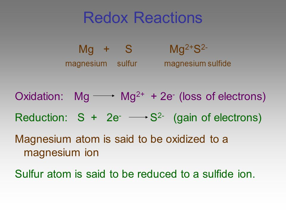 sulfur and copper reactions Redox reactions, or oxidation this half-reaction says that we have solid copper (with no charge) what is the oxidation number of sulfur in sulfur dioxide.