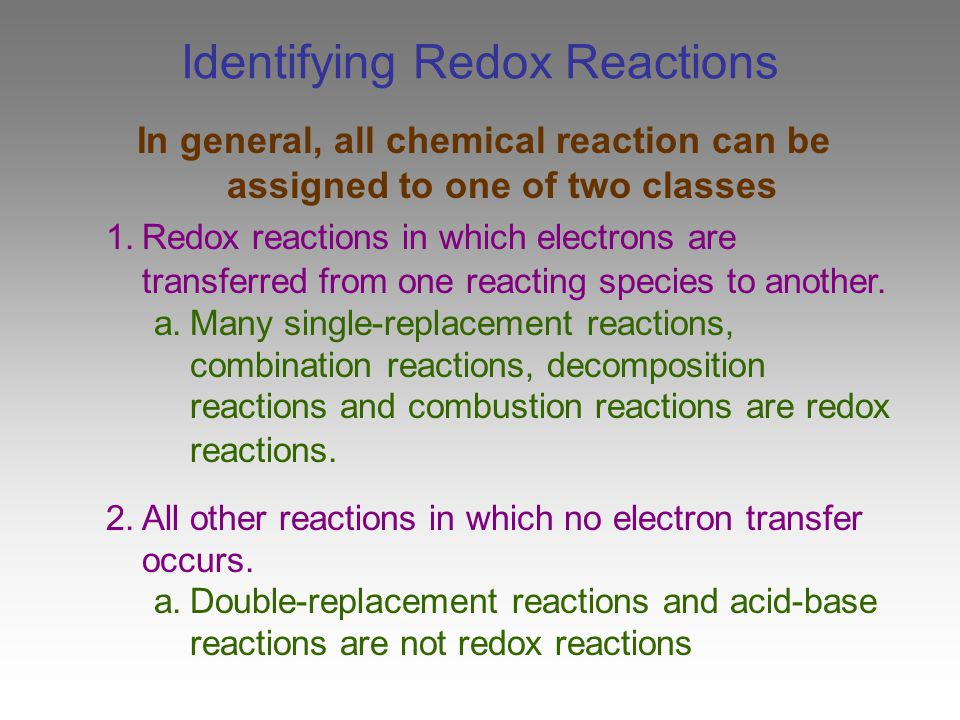 98 Choosing A Balancing Method In Some Redox Reactions