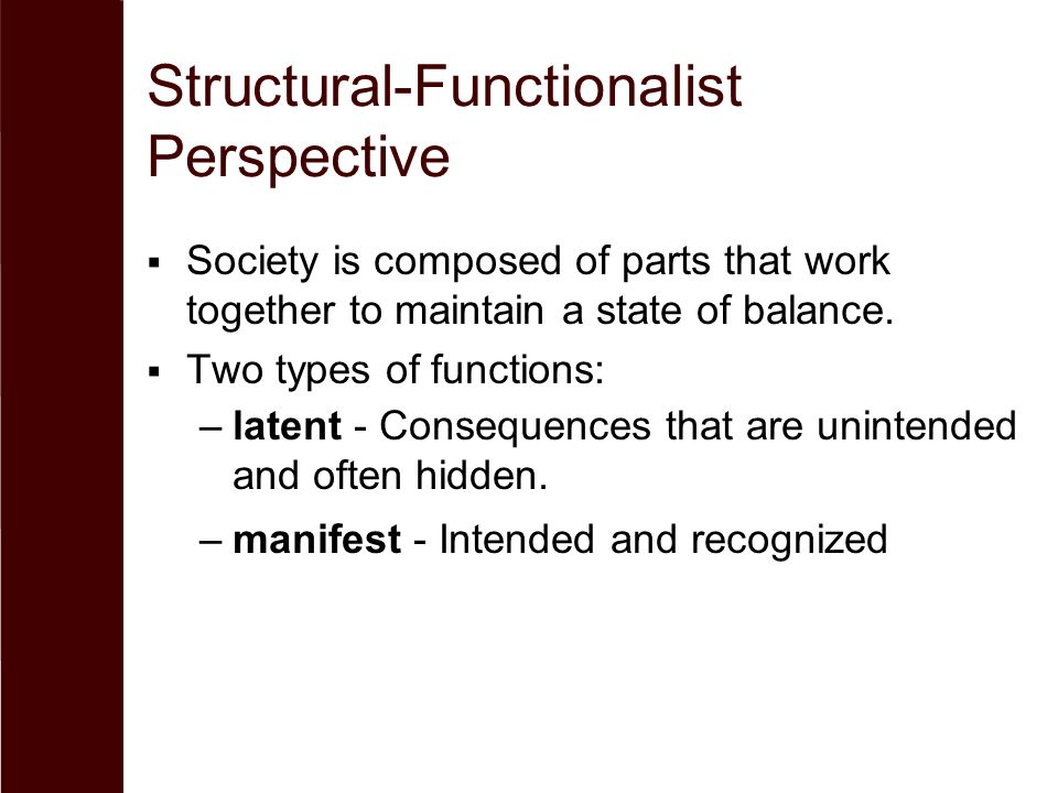 structural functionalism in gender problems Learn about social inequality which results from a society organized by hierarchies of class, race, and gender that broker access to resources and rights.