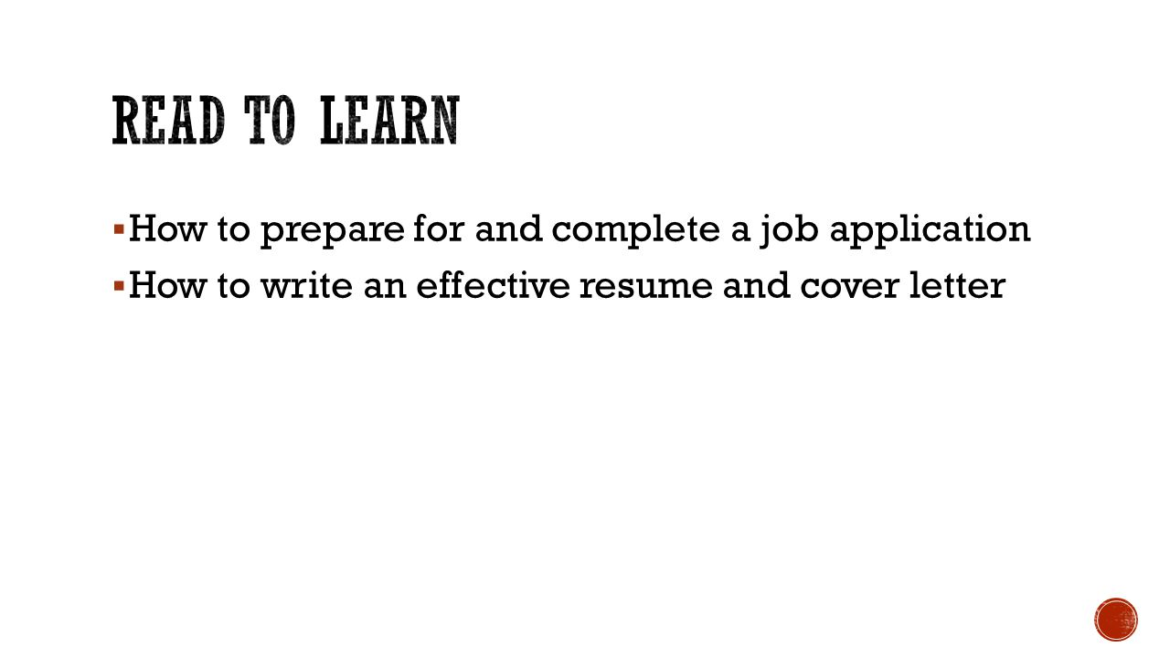 Applying for a job section ppt download for How to complete a cover letter for a resume