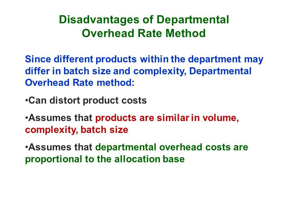 costs and departmental overhead rates The process of cost allocation the steps of cost allocation arbitrary approaches to cost allocation allocating service department costs problems with cost.