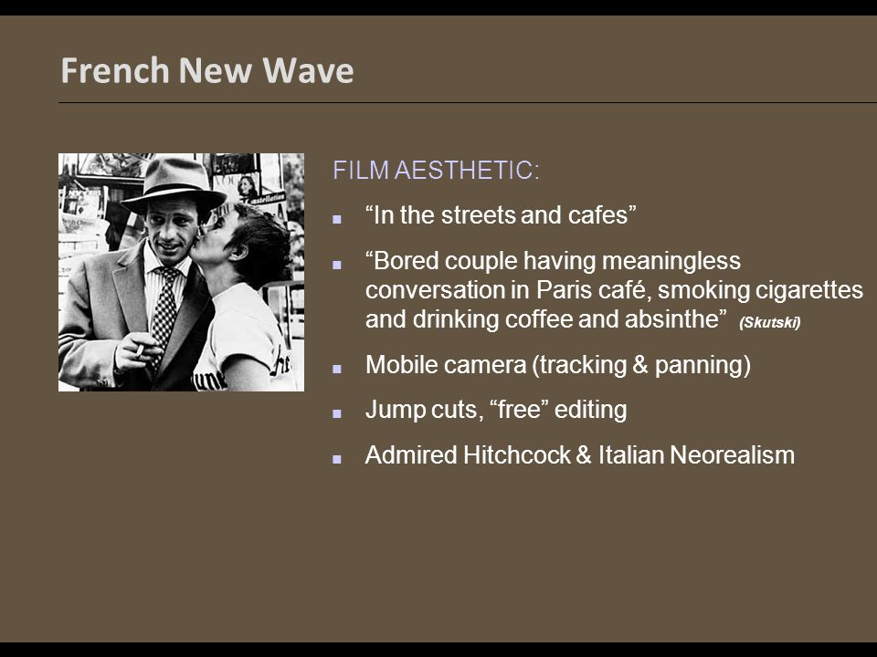 history of the french new wave Start studying history french new wave learn vocabulary, terms, and more with flashcards, games, and other study tools.