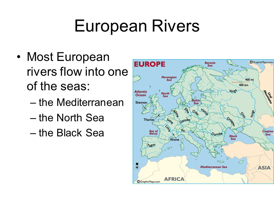 Physical And Human Geography Ppt Download - European rivers