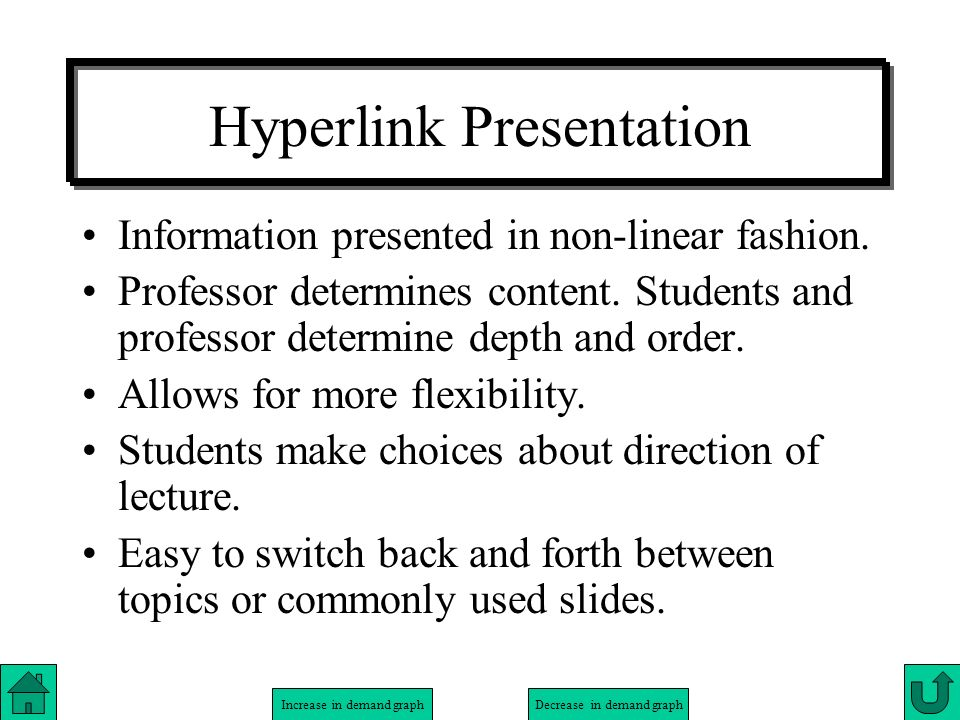 Hyperlink Presentation