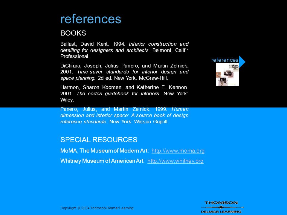 References BOOKS SPECIAL RESOURCES