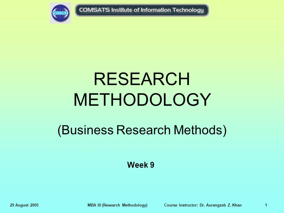 research methodology business