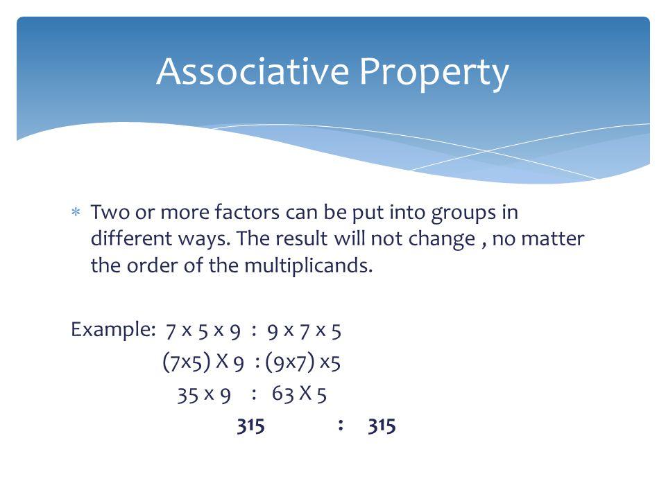 Multiplication properties. Multiplication properties ...