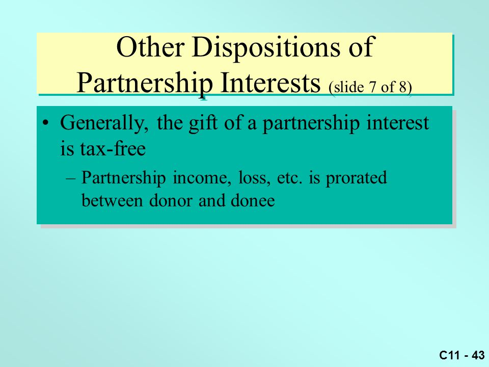 dispositions of partnership interests and partnership Nebraska law review volume 65|issue 3 article 3 1986 taxation of the disposition of partnership interests: time to repeal irc section 736 john a lynch jr.