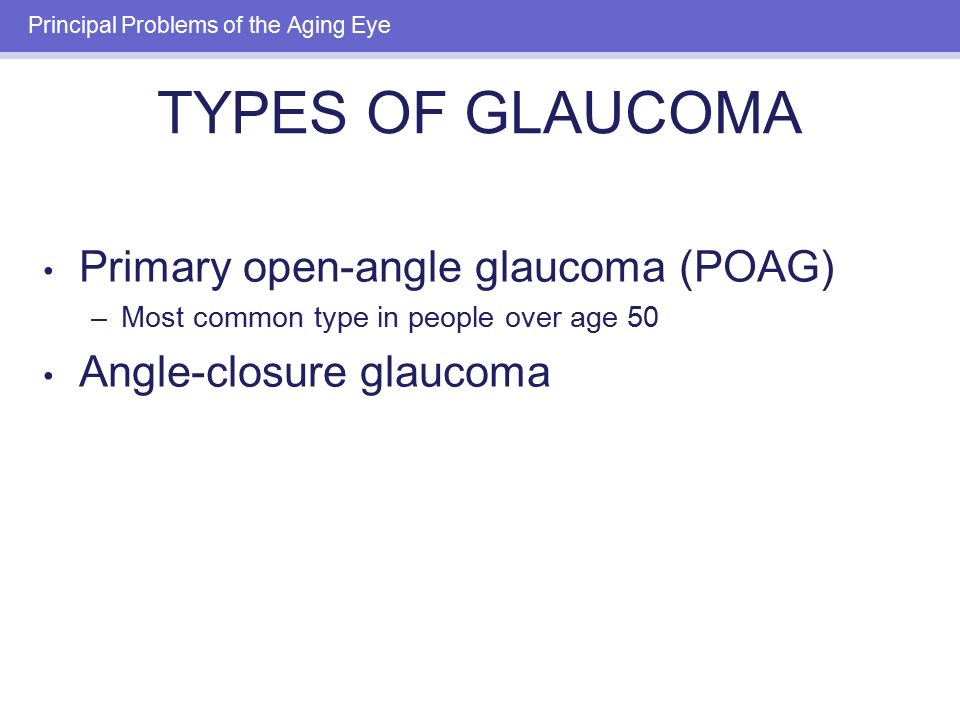 Problems with uk glaucoma poag treatment