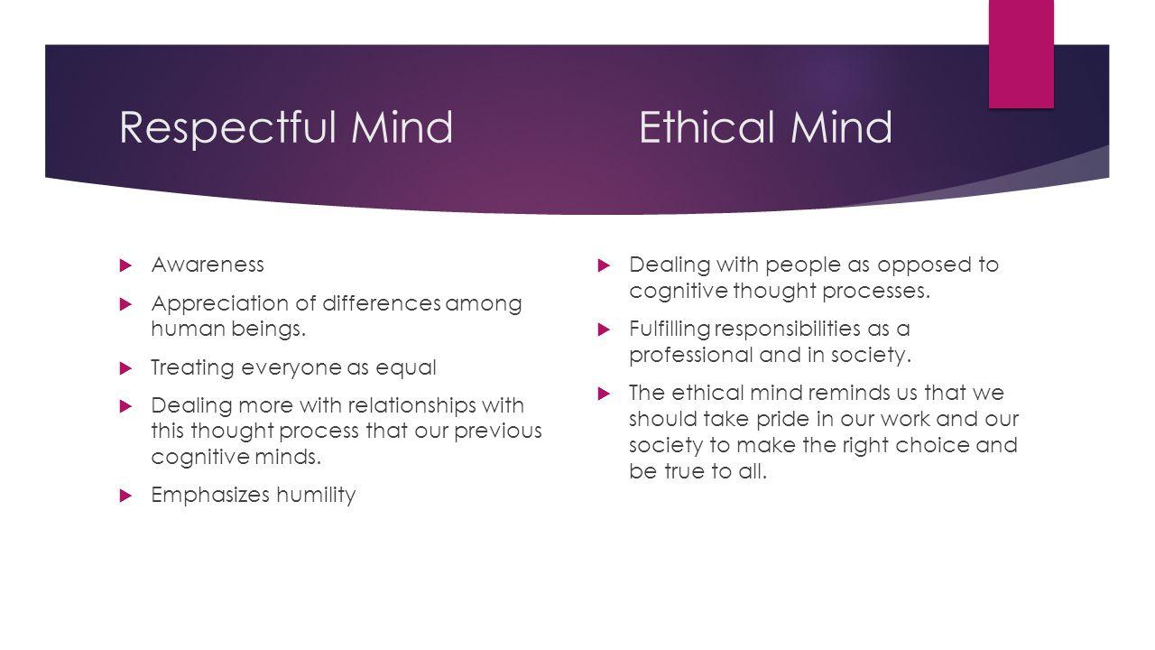 Respectful Mind Ethical Mind