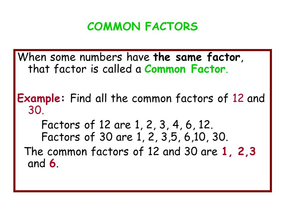 Highest Common Factors And Least common multiple - ppt download