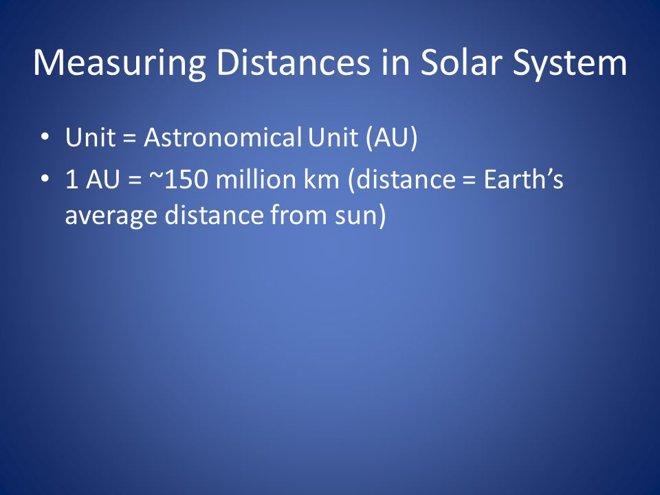 Measuring Distances in Solar System