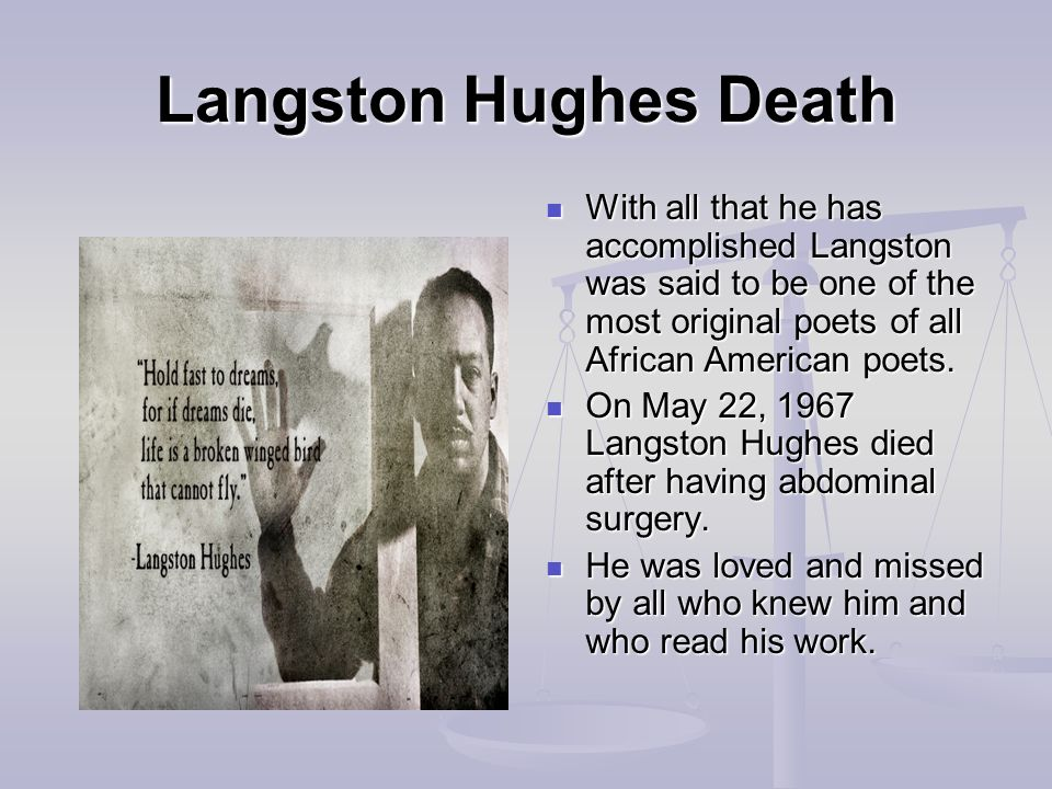 when did langston hughes write his essay my america