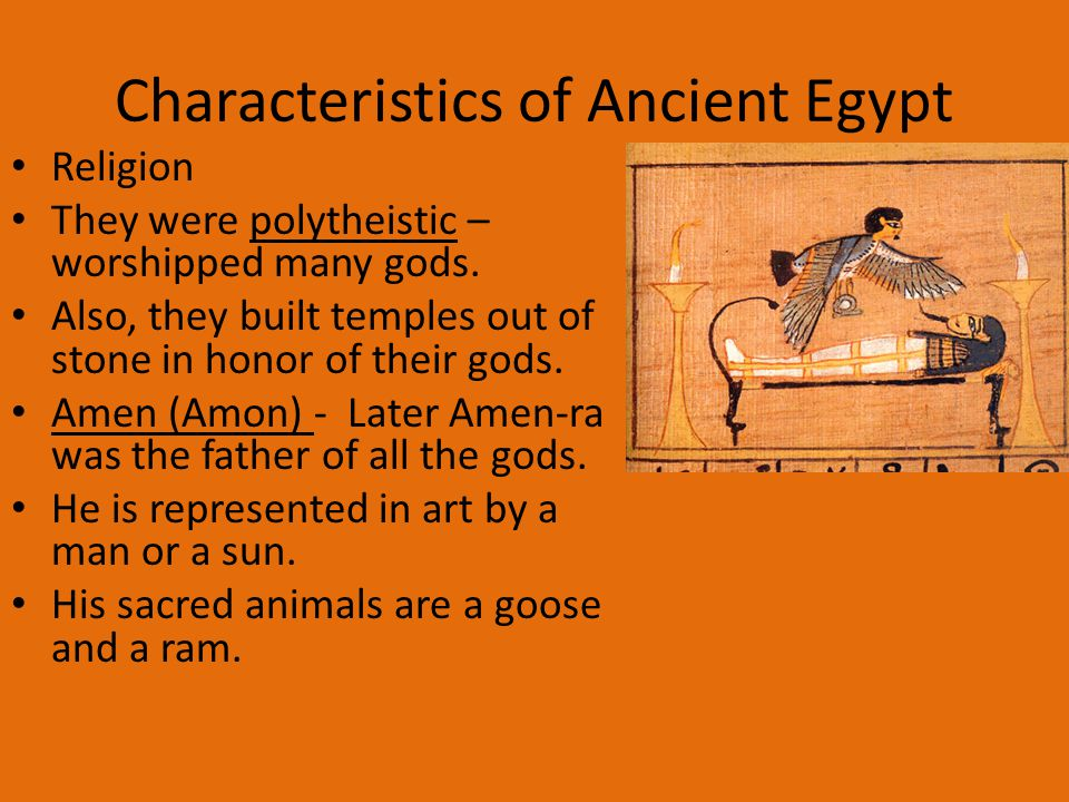 Main characteristics of Egyptian Art Essay Sample
