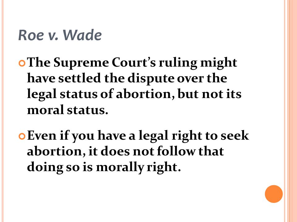 an argument in favor of abortion because its every womans right and choice In spite of the many arguments in favor of abortion, the murder of unborn infants is wrong, immoral, and should be illegal pro-life supporters choose life over abortion because they believe that abortion is wrong and unjust, goes againstshow more content.