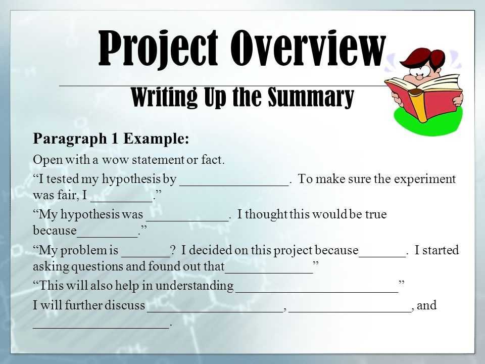 how to write a good summary paragraph