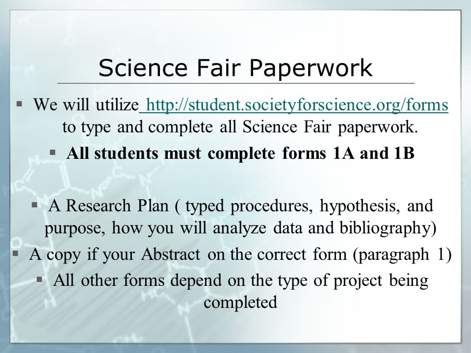Science Fair Projects. - ppt download