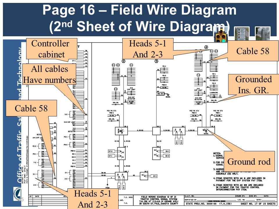 Page+16+%E2%80%93+Field+Wire+Diagram+%282nd+Sheet+of+Wire+Diagram%29 mndot sample plan jerry kotzenmacher mndot ppt download traffic signal cabinet wiring diagram at creativeand.co