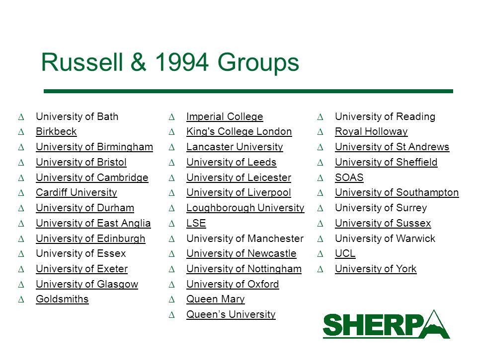 Russell & 1994 Groups University of Bath Birkbeck