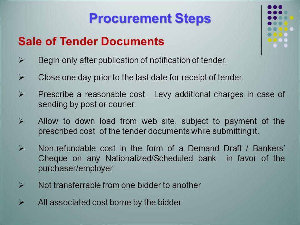 Procurement procedure in ssa ppt download for Prepare tender documents