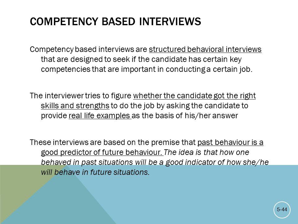 behaviour based interviews