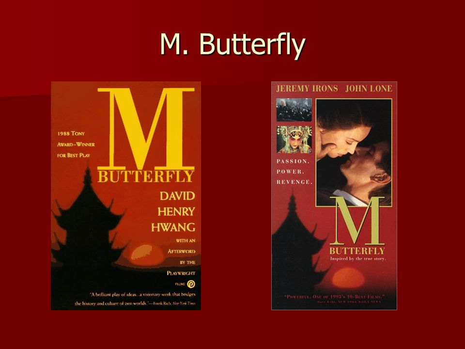 m butterfly by david hwang a study in human weakness psychosis and insecurity M butterfly david henry hwang isbn evolutionary studies of human social behavior following the demonstrated its value in the study of.