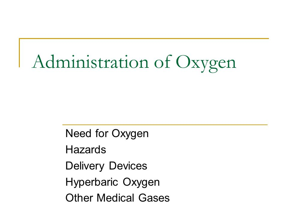 how would administration of oxygen The administration of oxygen is a way of increasing the effectiveness of first aid treatment for diving accidents being qualified in its use gives you the confidence to treat a diving-related injury either on a boat or on dry land.