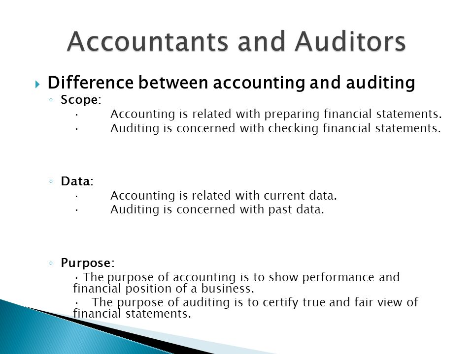difference between accounting and auditing pdf