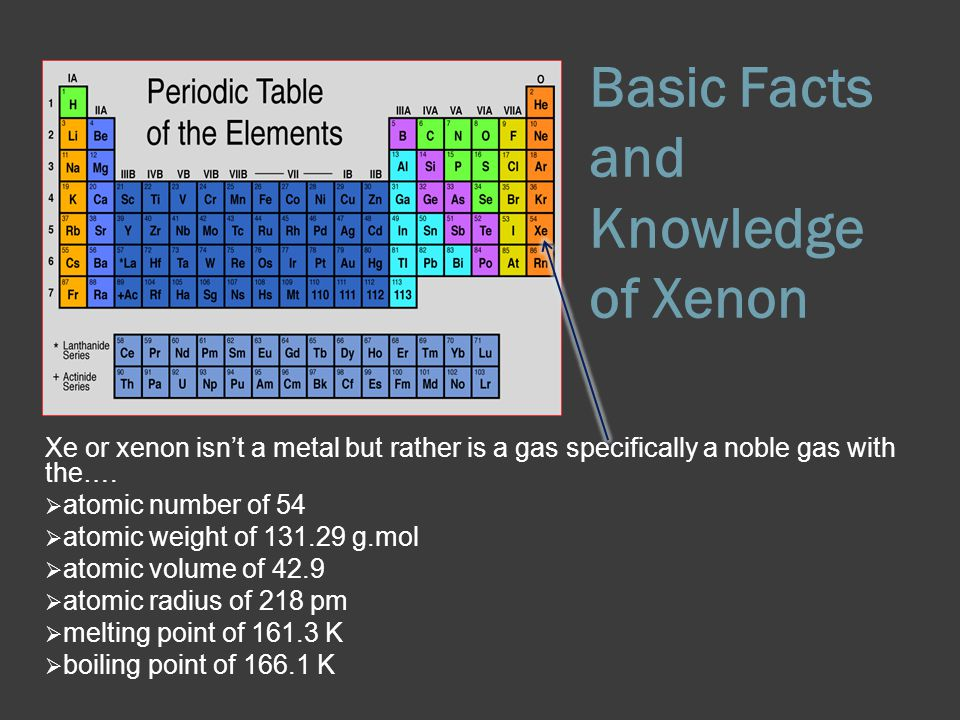The noble gas of xenon ppt video online download basic facts and knowledge of xenon urtaz Images