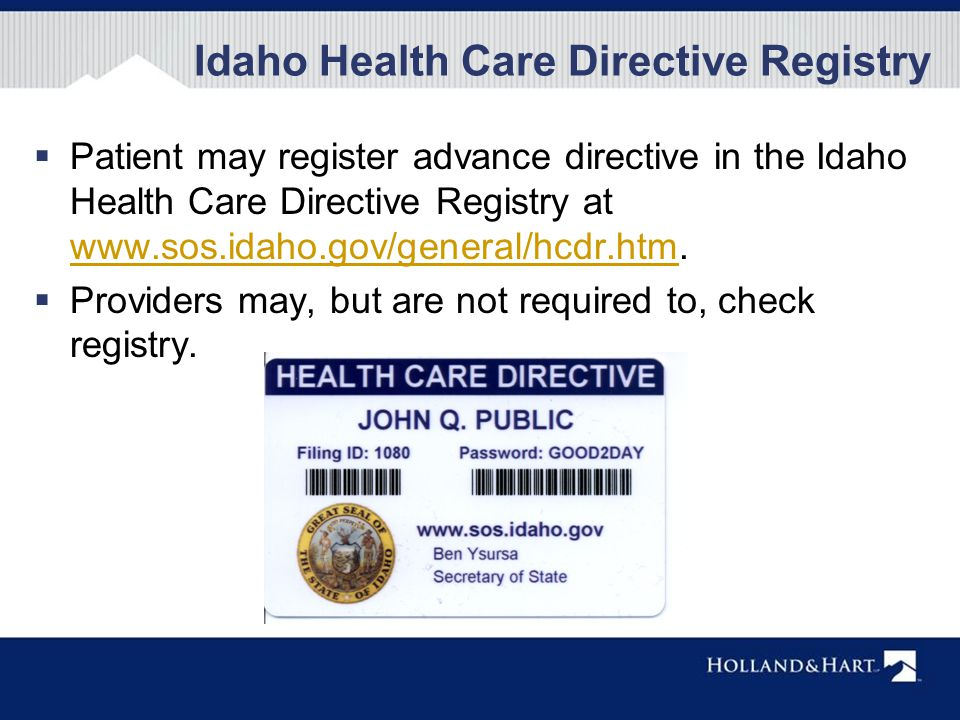 Informed consent in idaho melissa m starry ppt download for Registrator health check
