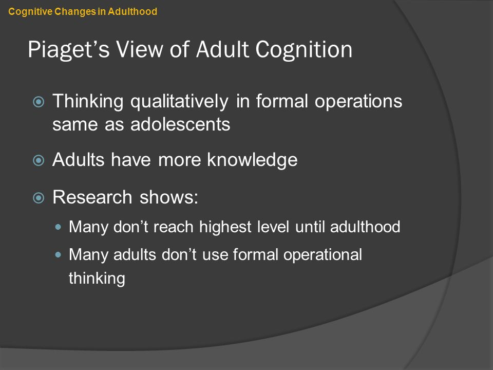 changes in adulthood perspective paper  early and middle adulthood paper joseph randle psy/280  2010 dr margaret garberina perspectives on changes in adulthood everyone has his.