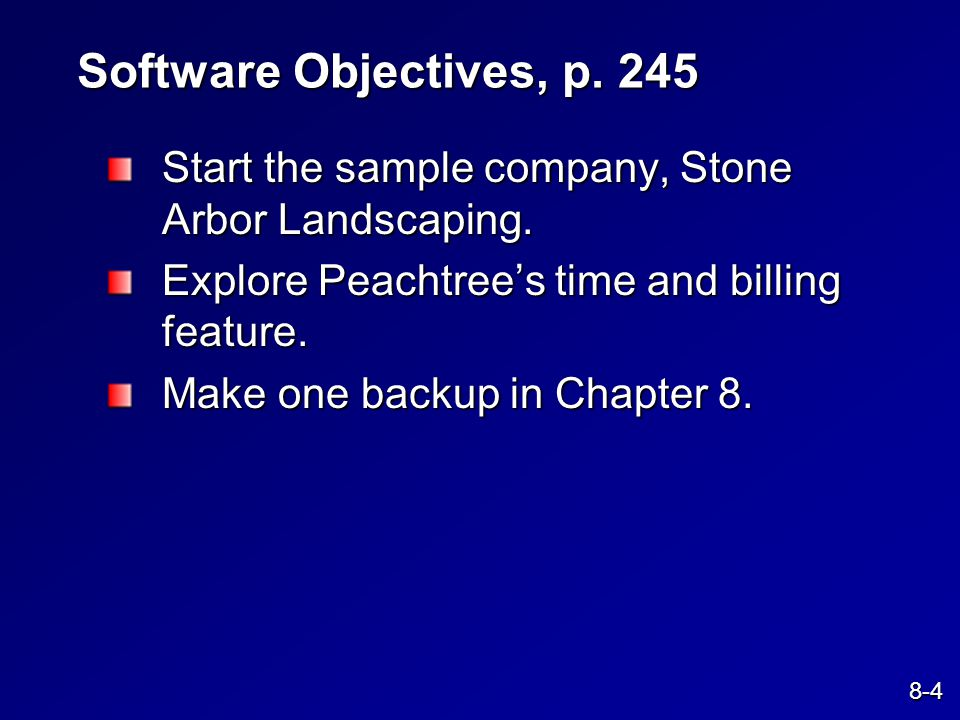 Chapter 8 Stone Arbor Landscaping: Time & Billing - ppt video online ...