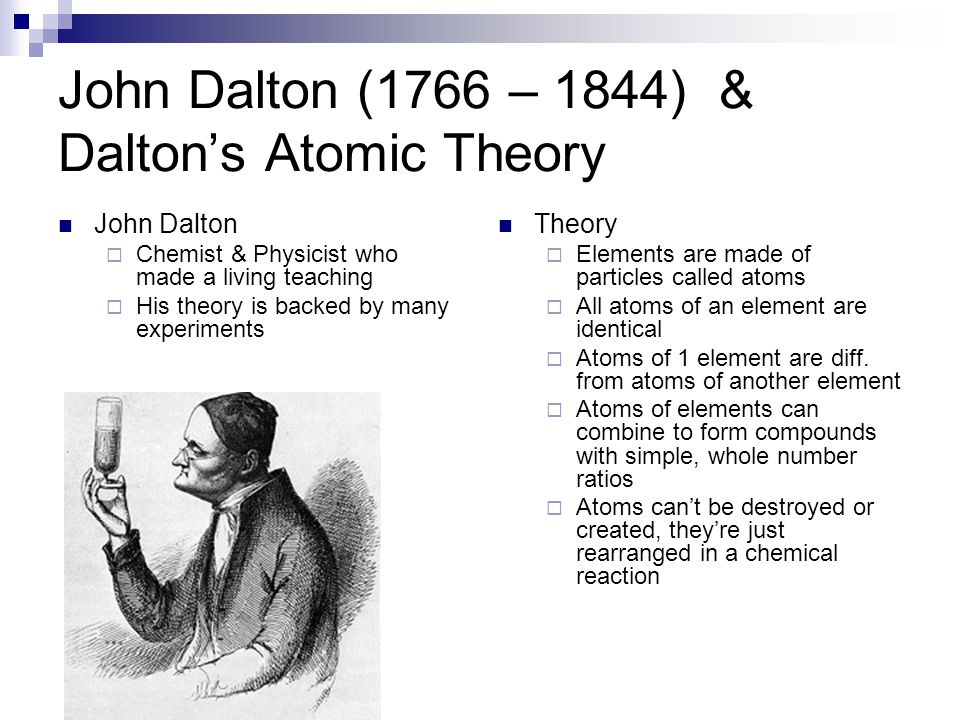 a short biography of john dalton a british chemist and physicist John dalton was an english chemist, meteorologist and physicist who is best known for his work on 'modern atomic theory' and 'colour blindness' read this biography to learn more about his childhood, life and timeline.