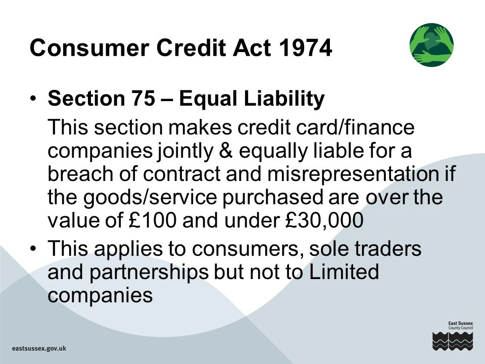 consumer credit and the law of Consumer credit is a debt that someone incurs for the purpose of purchasing a good or service.