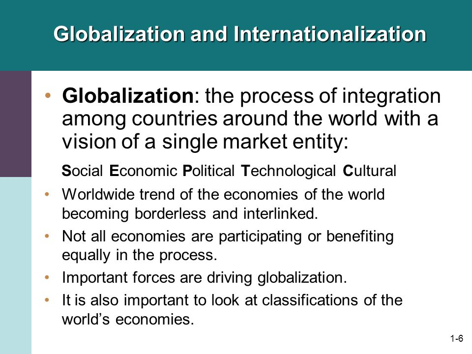 globalization and international linkages In addition, as with the drivers of globalization and ib, linkages between these two phenomena are manifest in various ways, from economic, operational, and governance-based factors to politics .