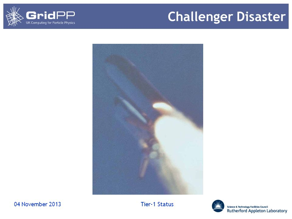 Challenger Disaster 22 March 2017 Tier-1 Status