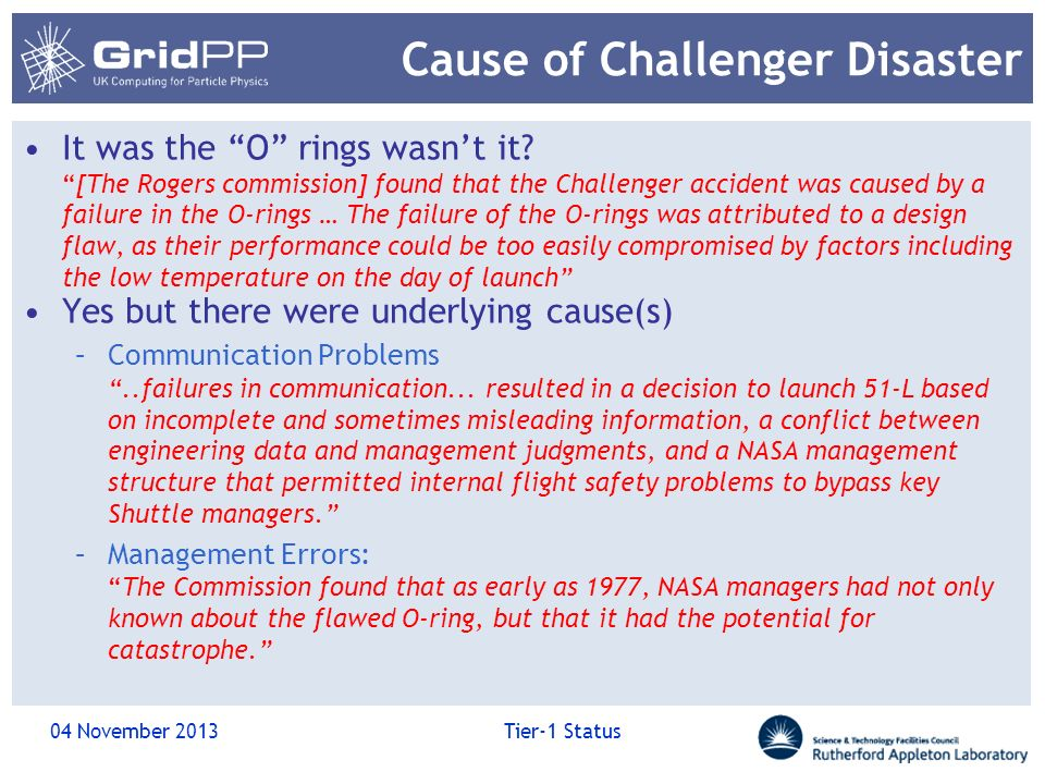 Cause of Challenger Disaster