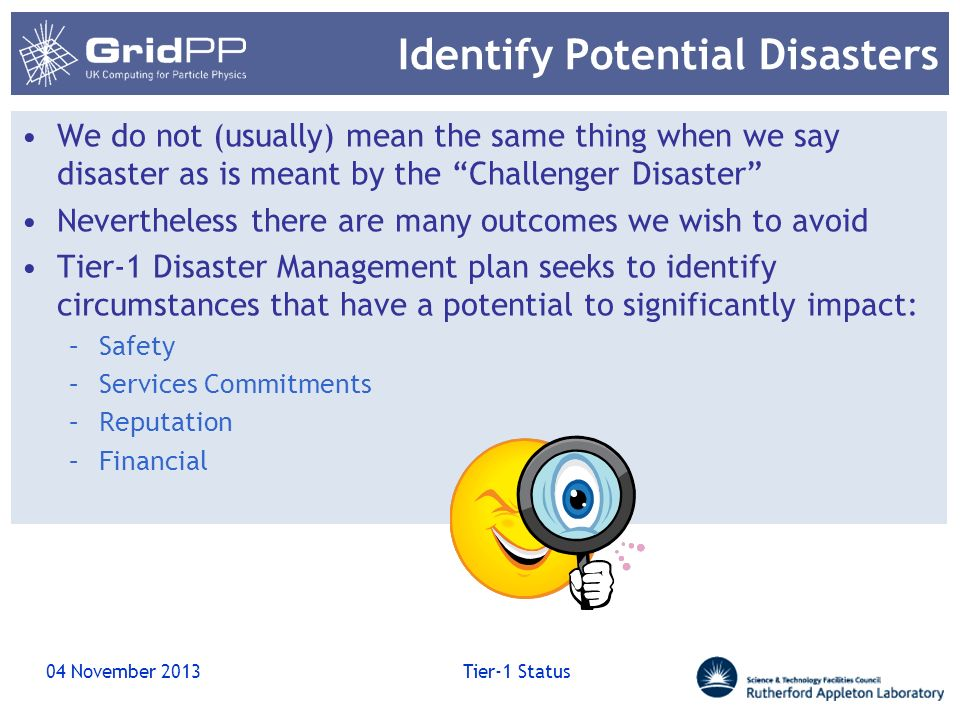 Identify Potential Disasters