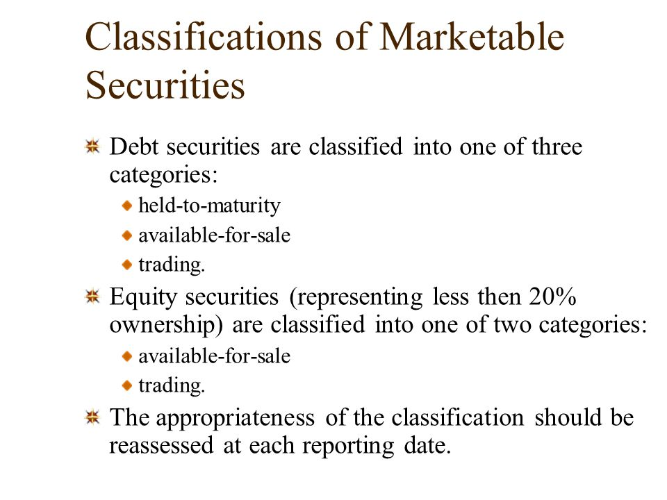 debt classification