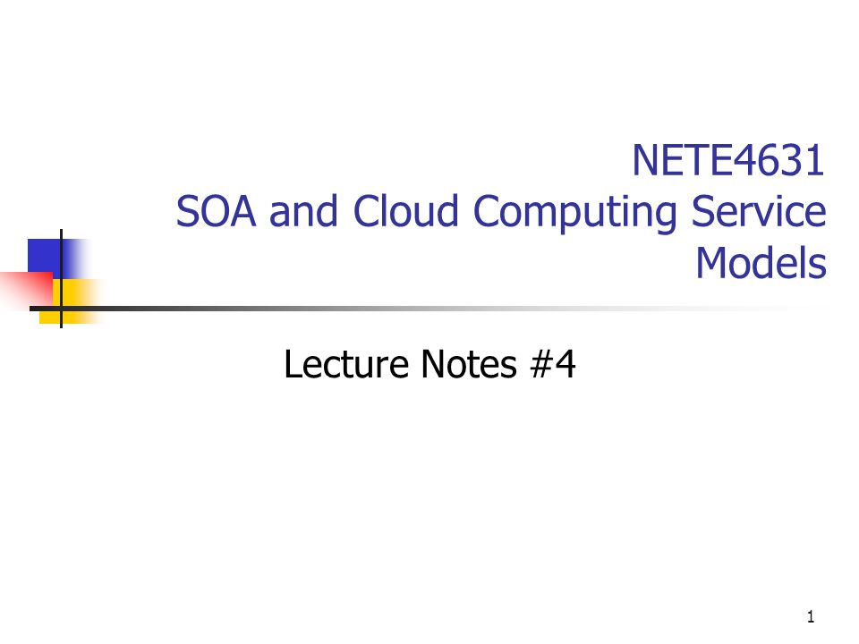 service oriented architecture lecture notes pdf